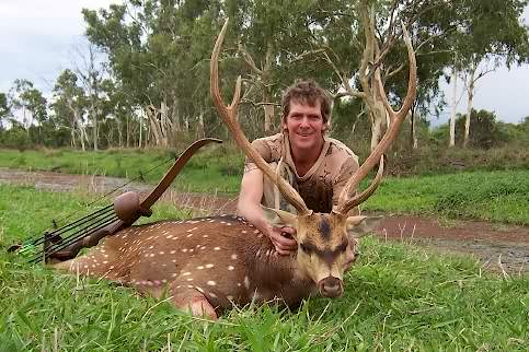 John Teitzel with Record Chital (Azis) Deer